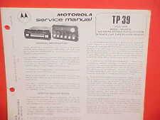 1978 MOTOROLA CAR 8-TRACK TAPE/AM-FM STEREO MPLX RADIO SERVICE MANUAL 3RV4715