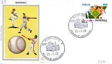 Repubblica Italiana 1998 FDC Filagrano Gold Coppa del Mondo di Baseball