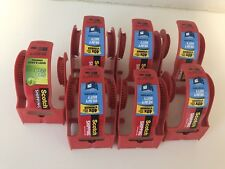 LOT of 7 Scotch EMPTY Tape Dispenser Holders 1.88 Size Small Mini Red