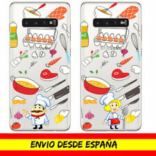 Funda Movil Samsung / Profesion Cocinero Cocinera Chef Gel Transparente Dibujo