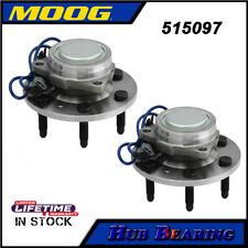 Moog 2 Front Wheel Hub Bearing for 07-14 Chevy Silverado GMC Sierra 1500 2WD
