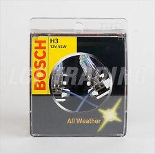 BOSCH H3 ALL WEATHER  2900K HALOGEN BULB  — 12V 55W (2PC)