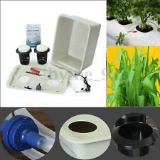 220V AC 2-Hole White Soilless Cultivation Hydroponic Box Grown System Bubble Tub