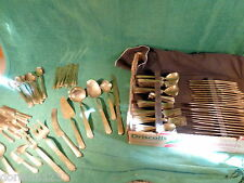 VINTAGE c 1930's-1948 GOLD PLATED FLATWARE FROM SIAM - SVC FOR 12 - 144 PIECES!
