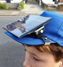 Solar charger SELF ASSEMBLY 1.6 watts power for mobile phone clips to your cap.