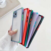 Square Case Hybrid Hard Cover For iPhone 11 Pro Max XS Max XS X XR 7 8 Plus SE 2