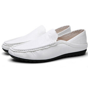Mens Casual Moccasin PU Leather Slip On Soft Shoes Driving Flats Loafers Size