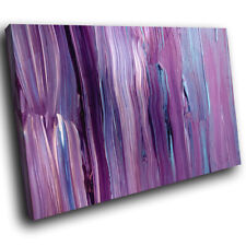 Purple Blue Black Abstract Canvas Wall Art Cool Picture Prints
