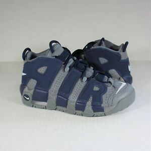Nike Air More Uptempo 96 Cool Grey Midnight Navy 415082 009 GS 7Y NEW R729