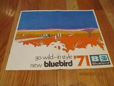 VTG 1971 GO WILD IN STYLE NEW BLUEBIRD CARAVAN RECREATIONAL VEHICLE SALES BOOK