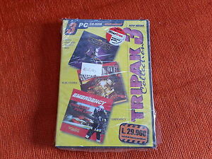 Tripak 3 Robo Rumble Seven kingdom ancient adv  Emergency pc cd rom gioco nuovo