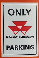 MASSEY FERGUSON Parking  STICKER DECAL large 200mm x 135mm Tractor Agriculture