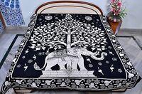 Elephant Tree of Life Indian Tapestry Wall Hanging Throw Boho Ethnic Gypsy Decor