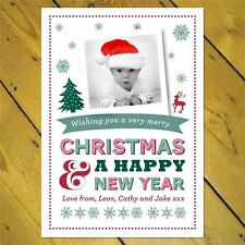 20 Personalised Xmas Christmas PHOTO Post Cards inc. envelopes