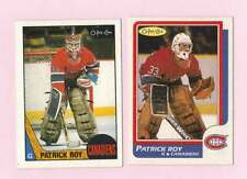 PATRICK ROY. 2 card lot. 1st and 2nd year O-PEE-Chee cards. 1986-87