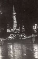 Lourdes Pilgrimage Rosary Basilica by Night Procession old Press Photo 1945