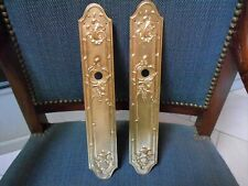 pair of FRENCH Vintage Brass STYLISH door PUSH FINGER Plates