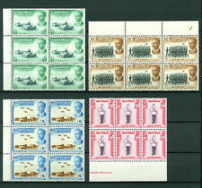 Iraq Irak 1958, Army Day, King Faisal II, SG #411-14, Margin Block of 6 MNH 3426