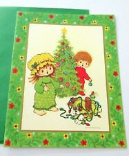 Unused Vtg Christmas Card Puppy Tales Susanna Woods Drawing Board DBGCI Card