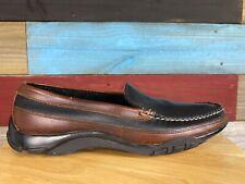 Allen Edmonds Men's 9.5 D Boulder Black & Brown Leather Slip-On Driving Loafer