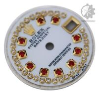 Custom White MOP  String Genuine Diamond Dial To Fit Rolex Lady Datejust 26mm