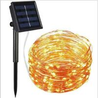 50-200Pcs Led Solar Power Fairy Light String Lamp Party Xmas Garden Wedding