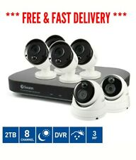 8 Channel Super HD 2TB DVR with 3MP 4 Bullet & 2 3MP Dome Cameras CCTV Kit