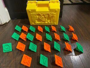 Vintage Play-Doh ABC Sesame Street Alphabet Letters Molds Stampers & Case 1997