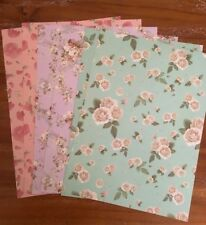 8 x A4 sheets vintage floral paper craft scrapbook cards projects acid free