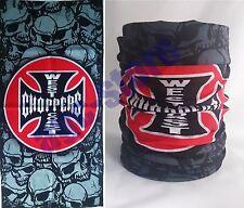 Biker chopper tribal skull flammes tete de mort bandana foulard foulard foulard NEUF
