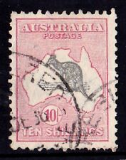 Australia 1932 Kangaroo 10/- Grey & Pink C of A Watermark Used
