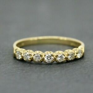 18ct Yellow Gold 0.33ct Diamond Eternity Ring Size P, US 7 1/2