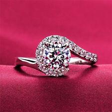 Ring 925 Silber Damen Ring Verlobungsring Ehering CZ Diamant Gr.18 Neu UVP:89€