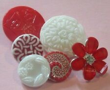 Lot Vintage New Swirl Floral Cards Glass Rhinestone Buttons
