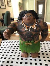 "2015 Hasbro Disney Moana Maui Action Figure Doll Plastic Tattoo 10.5"" Husky"