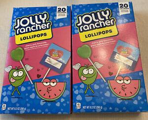 Jolly Rancher Valentine Lollipops, 4 Flavors, 9.2 oz 2x20 Count Read Description