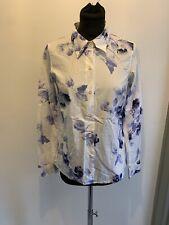 Agnes B Rose Print Cotton Shirt Size 40/UK 10-12 Read Full Description