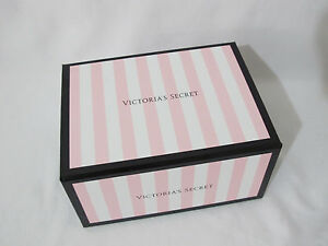 1 Victoria's Secret PinkBlack Signature Stripe Logo Collectible/Storage/Gift Box