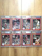 8x 8.5 BGS Card Lot 1985 Star Slam Dunk Supers 5X7 - No Michael Jordan