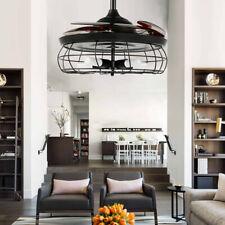 "42"" Ceiling Fan Light Remote Control Industry Chandelier Lamp E27 Bulb Base"