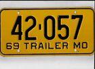 "MISSOURI 1969 license plate ""42-057"""