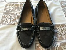 COach Felisha Signature Loafers Driving Shoes-size 37- 7B