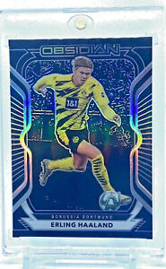 ERLING HAALAND 2020-21 Obsidian Soccer Base Borussia Dortmund #/195 *SHARP*