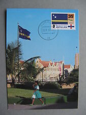 ANTILLES, maximumcard maxi card 1995, Curaçao flag, card Salas
