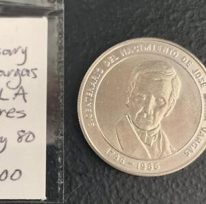Venezuela 1986 100 Bolivares Jose Maria Vargas / Rare 1 Oz Silver & *No Reserve!