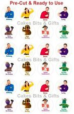 24x WIGGLES CHARACTER Mix Edible Wafer Cupcake Toppers PRE-CUT Ready to Use