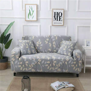 LeavesStretch Sofa Cover Lounge Couch Slipcover Recliner Protector Washable