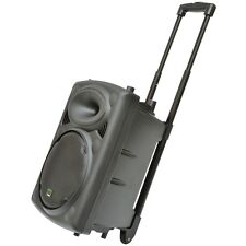 QTX QR10PA 150W Portable Trolley PA Karaoke Speaker System Headset Radio Mic