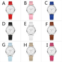 Women Fashion Quartz Leather Band Watch Analog Stainless Steel Wrist Watch Gift