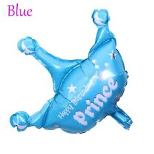 2pcs Princess Crown Foil Balloons Pink Blue Ballons Birthday Party Decoration